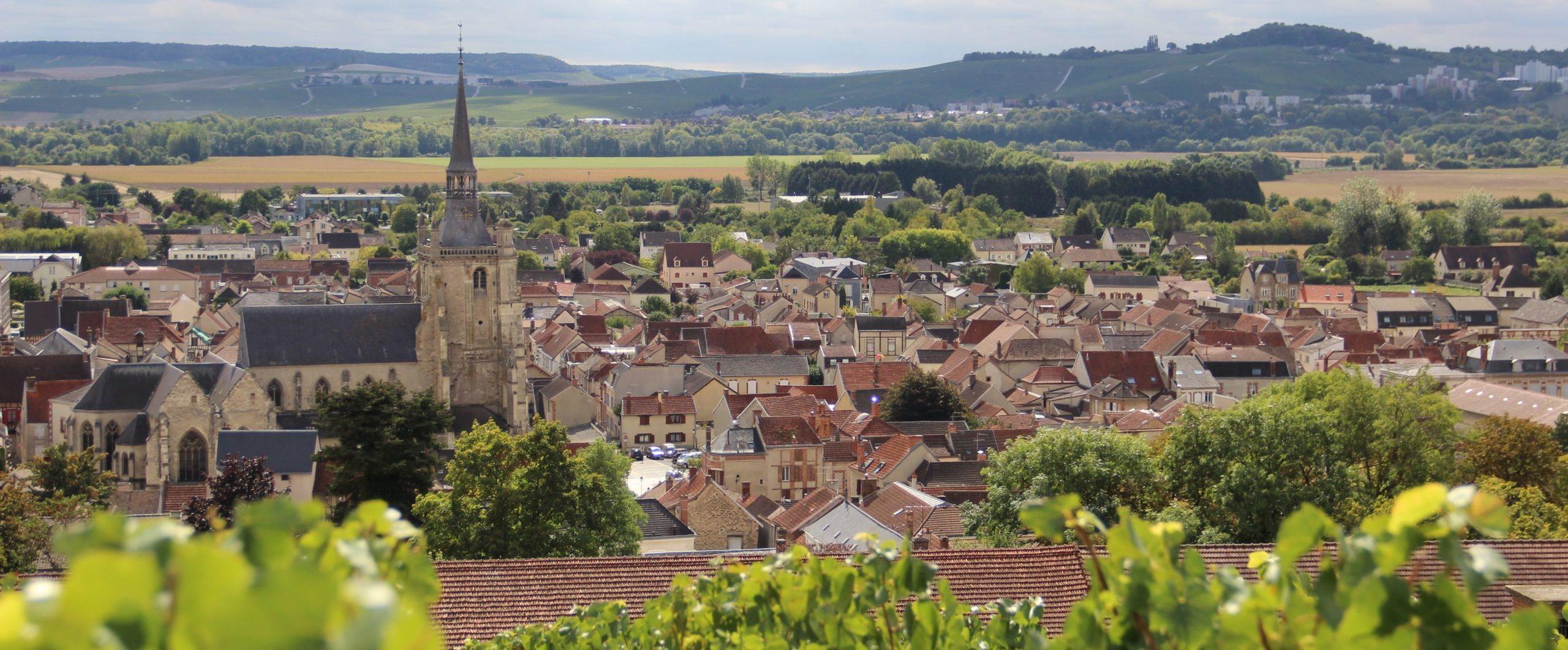 vue sur Aÿ-Champagne depuis les essors